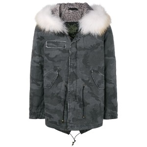 Mr & Mrs Italy camouflage printed parka - グレー