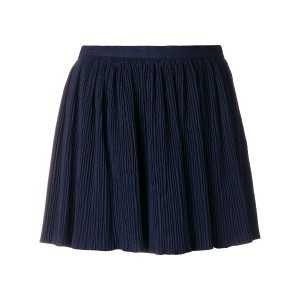 Red Valentino pleated fitted shorts - ブルー
