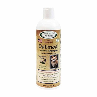 Mad About Organics All Natural Dog & Puppy Oatmeal Shampoo Concentrate 16oz by Mad About Organics