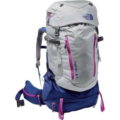 (取寄)ノースフェイス レディース テラ 55L バックパック The North Face Women Terra 55L Backpack High Rise Grey/Sodalite Blue