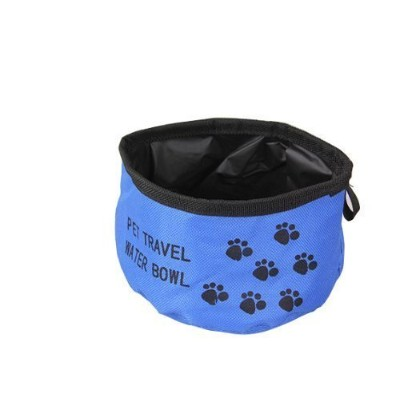Pets Folding Collapsible Travel Food & Water Bowl for Dogs Cats, Blue by CutePet
