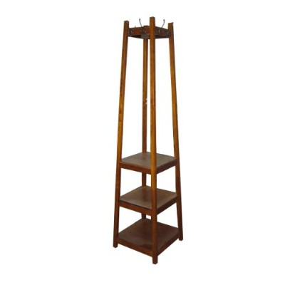 ORE International AFW1275C Three Tier Tower Shoe and Coat Rack, Brown by ORE