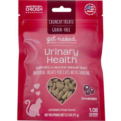Get Naked Urinary Health 猫用クランチートリー、クランベリー用(ポーチ1個)、2.5オンス