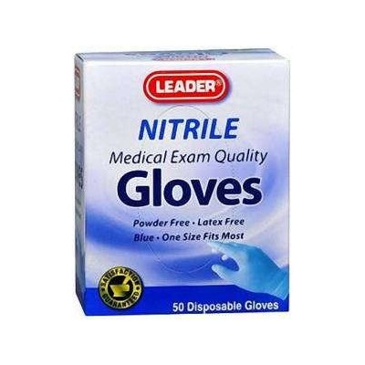 Leader Gloves Nitrile Powder Free One Size 50 ct by LDR