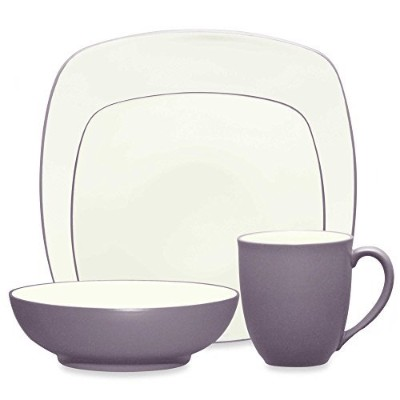 Noritake Colorwave食器類4ピースSquare Place Setting in Plum