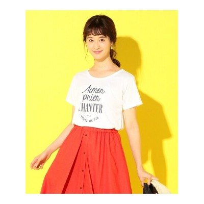 【SALE/13%OFF】any SiS S プリントロゴ Tシャツ エニィスィス カットソー【RBA_S】【RBA_E】