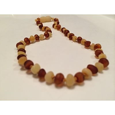 Baltic Amber Teething Necklace for Babies (Unisex) (Honey Multi Cherry Black Red Milk White Butter...