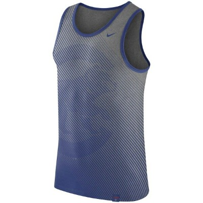 ナイキ メンズ タンクトップ MLB Chicago Cubs Nike 1.7 Tri-Blend Tank Top ノースリーブ Heathered Gray
