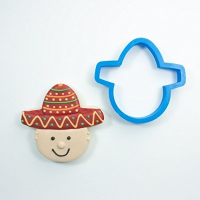 Frosted Cookie Cutters Sombrero withヘッドクッキーカッター Standard - 3.5 in