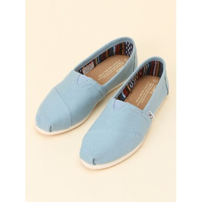 TOMS W CLSC TOMS Blue Canvas トムス シューズ【送料無料】