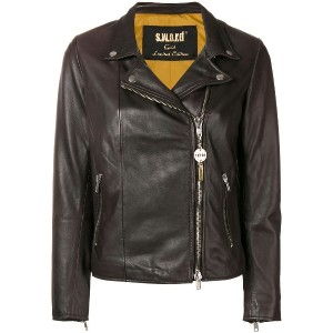 S.W.O.R.D 6.6.44 zip-up biker jacket - ブラウン
