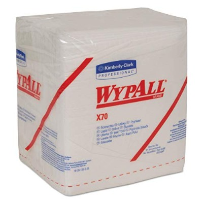 WYPALL X70 Wipers, 1/4-Fold, 12.5 x 14.4, White, 76/Box by Wypall