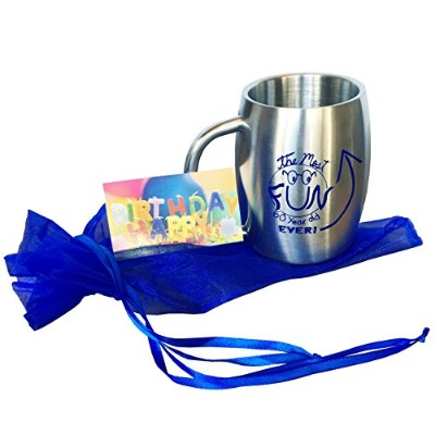 (blue print) - 60th Birthday Gifts for Men from Kids - Insulated Stainless Steel Coffee Mug or...