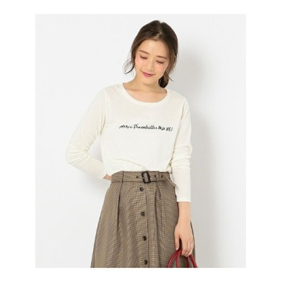 any SiS L プリント Tシャツ エニィスィス カットソー