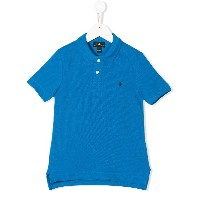 Ralph Lauren Kids logo embroidered polo shirt - ブルー