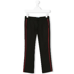 Lanvin Enfant side stripe trousers - ブラック