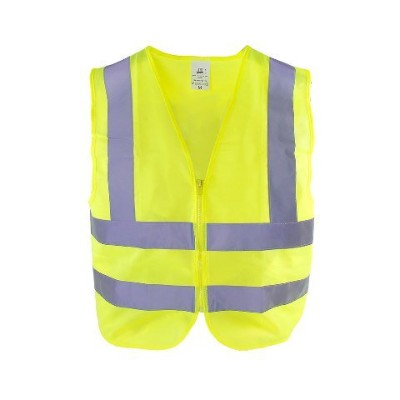 TR Industrial TR88004 Neon Yellow High Visibility Front Zipper Safety Vest, 3XL