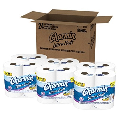 Charmin Ultra Soft Toilet Paper (6 Packs Of 4 Mega Rolls) by Charmin