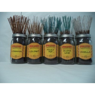 Wildberry Incense Sticks Best Sellerセット# 4 : 10 Sticks各5の香り、合計50 Sticks 。