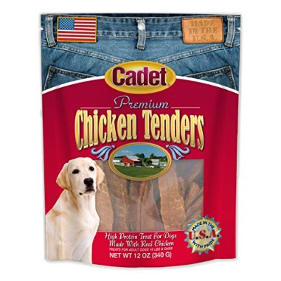 IMS Cadet Premium USA Real Chicken Tenders High Protein Treats for Dogs 12z