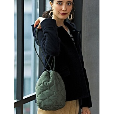 UNITED ARROWS green label relaxing SC キルティング 巾着バッグ ユナイテッドアローズ グリーンレーベルリラクシング バッグ【送料無料】