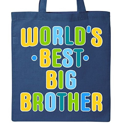 Inktastic - Worlds Best Big Brotherトートバッグ One Size ブルー