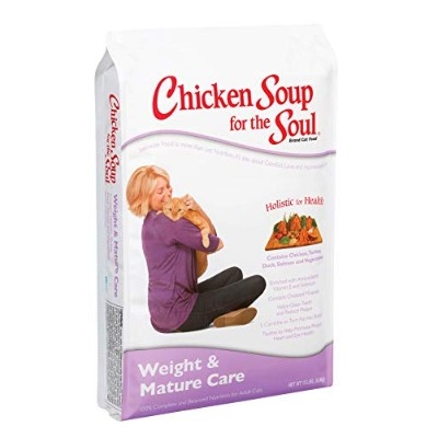 Chicken Soup for The Soul Weight Mature Care Cat Dry Food Pet Formulated 15lbs
