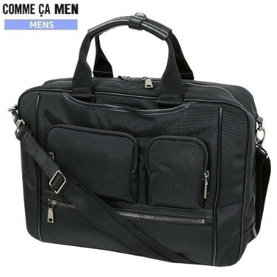 ★SALE 50%OFF★【COMME CA MEN】コムサメン 2WAY 多機能ビジネスバッグ(ブリーフケース) 黒『18/5/3』160518