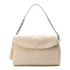 Tory Burch Fleming Fold-Over Hobo bag - ニュートラル