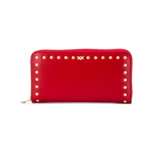 Pinko big zipped wallet - レッド