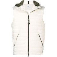 CP Company hooded sleeveless vest - ホワイト