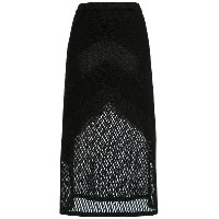 Nk knit midi skirt - ブラック