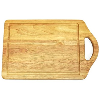 Wooden story – 木製カッティングとChopping Board with aハンドルゴムの木Serving/の準備Food