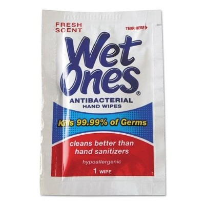 PLA4723 - Antibacterial Moist Towelettes, 5 X 7-1/2, White, 1-ply by Wet Ones [並行輸入品]