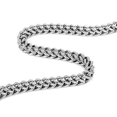(18.0 inches) - Urban-Jewellery Thick Stainless Steel Men's Necklace Chain (Silver Colour, 8 mm...