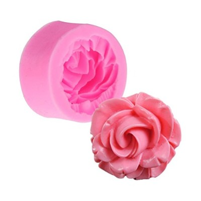 UEETEK 3D Rose Flower Baking Cups Silicone Muffin Cup Cookie Mould Fondant Chocolate Cutter Mould...