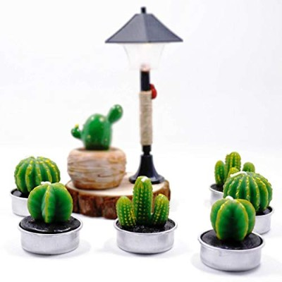 Cactus Candles Cacti Decorative Green Succulents Candles Tea Light for Home Birthday Party Wedding...