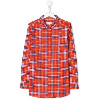 Burberry Kids TEEN Fred checked shirt - レッド