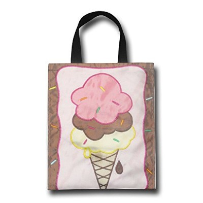 WACRDG Shopping Handle Bags,Ice Cream Personalized Tote Bag