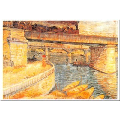 Il Ponte Di Asnieres by Vincent Van Gogh 24X 31アートプリントポスター