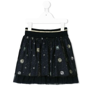 Lapin House jewel embellished tulle skirt - ブルー