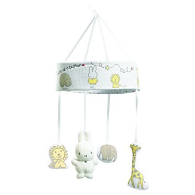Rainbow Designs Miffy Sweet Dreams Musical Mobile for Newborn (Off-White)
