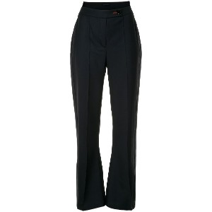 Eudon Choi high rise flared trousers - ブルー
