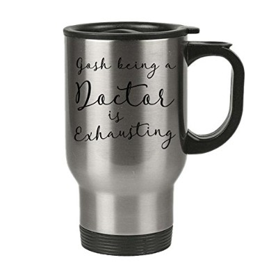 Insulated Travel Mug with Lid – Gosh Being A Doctor is exhausting – Oh My Becky – Perfectメンズ...