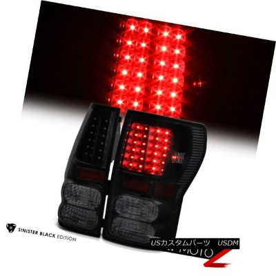 "テールライト 2007-2013 Toyota Tundra ""TRD STYLE"" Sinister Black Rear L.E.D Brake Tail Lights 2007-2013トヨタ..."