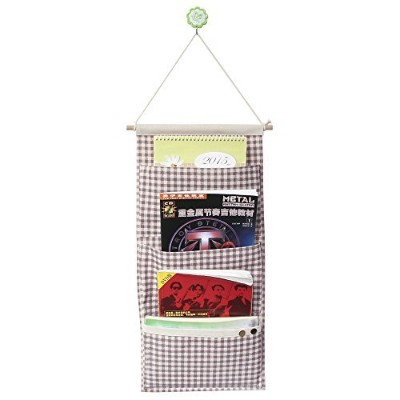 Co-link&Linen/Cotton Fabric Wall Door Cloth Hanging Storage Pockets Books Organizational Back to...