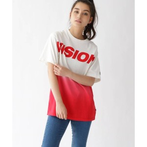 【BASE CONTROL LADYS(ベース コントロール レディース)】 Tシャツ VISION/ビジョン別注 グラデーションTシャツ OUTLET > トップス > カットソー ワインレッド