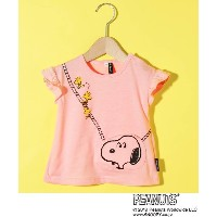 【3can4on(Kids)(サンカンシオン(キッズ))】 SNOOPY コラボ ポケットTシャツ OUTLET > トップス > Tシャツ ピンク