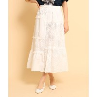 【anatelier(アナトリエ)】 special for anatelier 切り替えマキシスカート OUTLET > スカート > マキシ・ロングスカート ホワイト