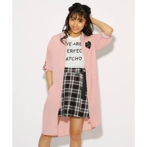 【PINK-latte(ピンク ラテ)】 【SET】ロングMA-1+Tシャツ セット OUTLET > アウター > その他 ベビーピンク
